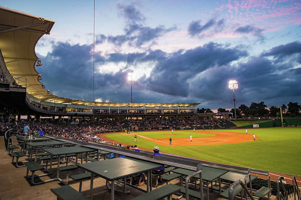 Photograph - Night Game At Arvest Ballpark - Nwa Naturals Baseball  by Gregory Ballos