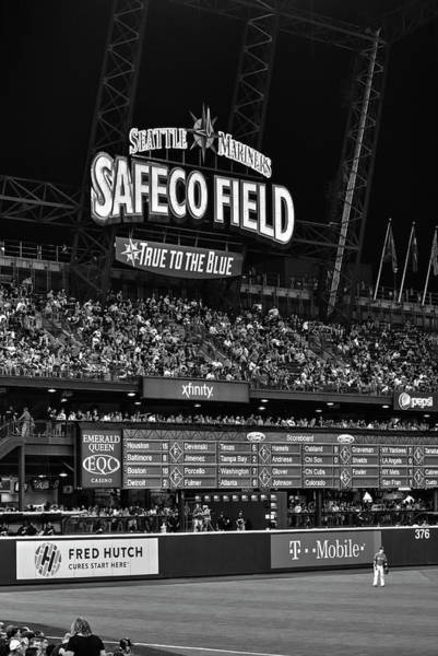 Safeco Field Photograph - Night Game - Safeco Field by Daniel Hagerman