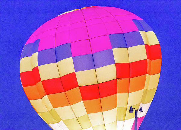 Photograph - Night Glow At The Hot Air Balloon Festival by Pete Hendley