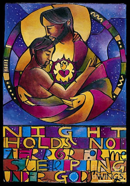 Painting - Night Holds No Terror - Mmnht by Br Mickey McGrath OSFS