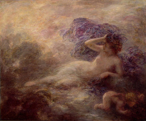 Wall Art - Painting - Night by Ignace Henri Jean Fantin Latour