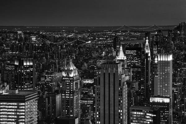 Photograph - Night In Manhattan by Patricia Montgomery