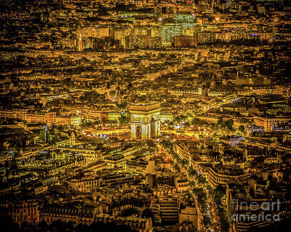 Wall Art - Photograph - Night In Paris by Perry Webster
