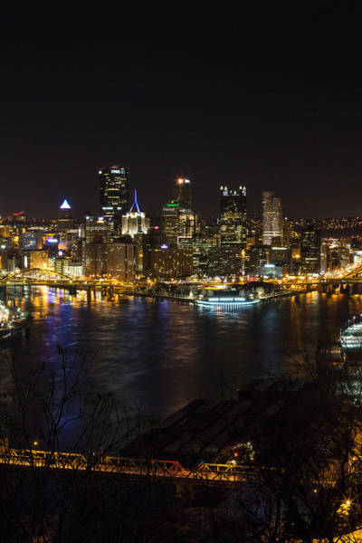 Photograph - Night In Pittsburgh by Sara Hudock