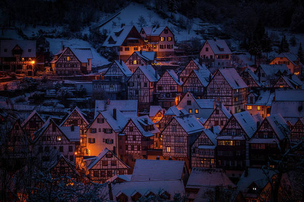Photograph - Night In The Alps by Movie Poster Prints