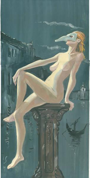 Painting - Night In Venice 1 by Igor Sakurov