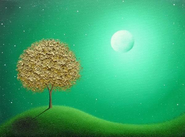 Full Moon Painting - Night Journeys by Rachel Bingaman