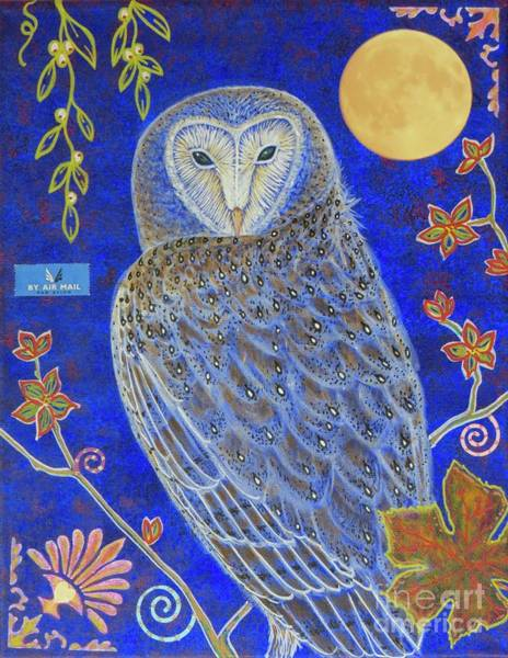 Barn Owl Mixed Media - Night Knowledge by Aimee Mouw