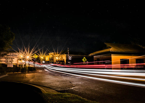 Photograph - Night Life In Old Town Helena by Parker Cunningham