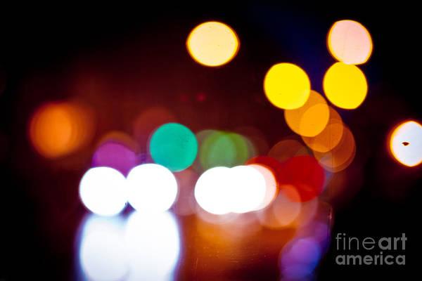Photograph - Night Light Defocused by Raimond Klavins