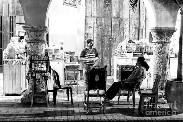 Photograph - Night Light In Cartagena by John Rizzuto