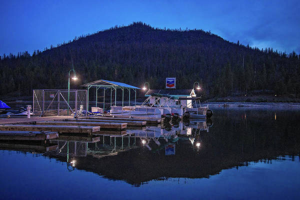 Photograph - Night Light Reflections At Bass Lake by Lynn Bauer