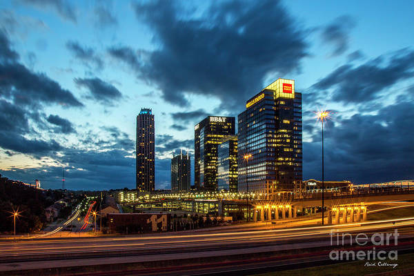 Atlanta Symphony Orchestra Photograph - Night Lights 8 Midtown Atlanta Sundown Art by Reid Callaway