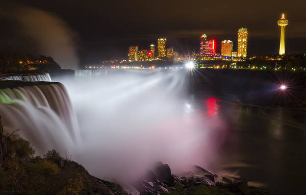 Niagara Falls State Park Photograph - Night Lights by Mark Papke