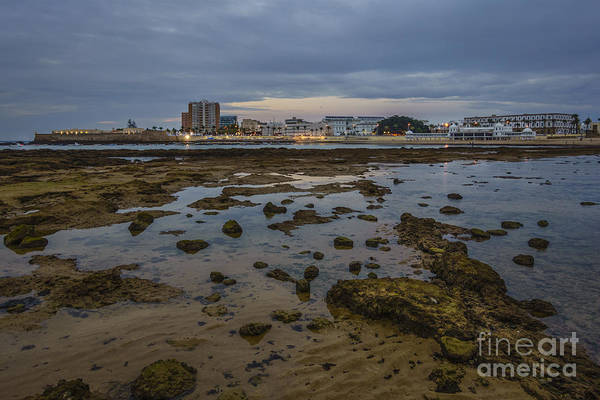 Photograph - Night Lights On La Caleta Cadiz Spain by Pablo Avanzini