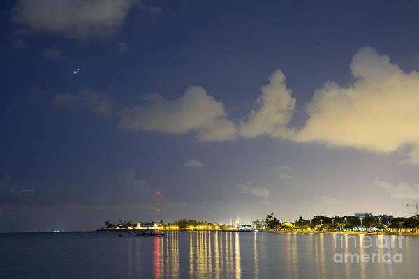 Photograph - Night Lights Over Ala Moana Beach Park by Charmian Vistaunet