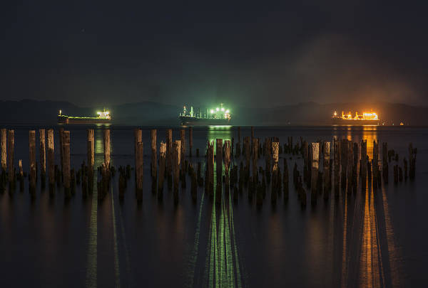 Photograph - Night Lights by Robert Potts