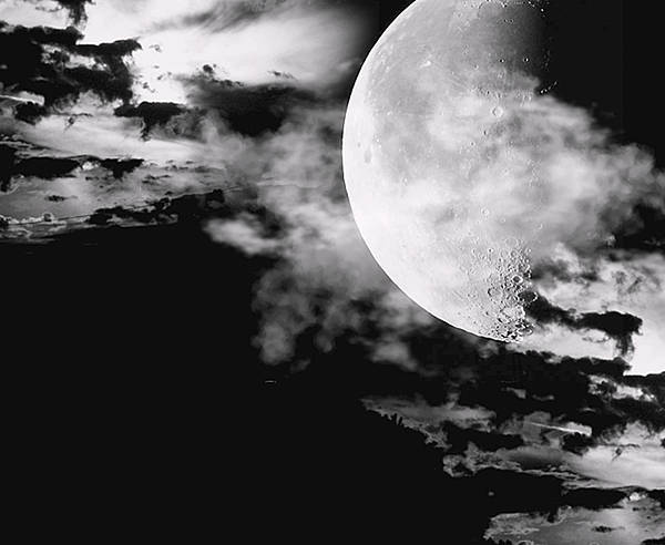 Moon Black White Wall Art - Photograph - Night by Lourry Legarde