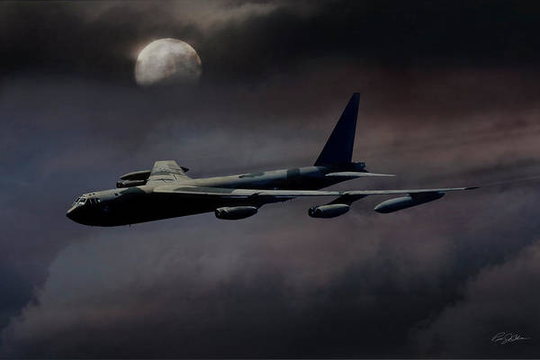 Wall Art - Digital Art - Night Moves B-52 by Peter Chilelli