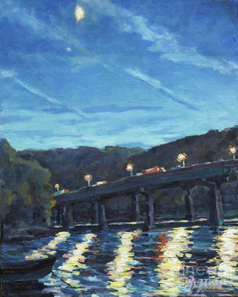 Painting - Night Moves by Patricia A Griffin