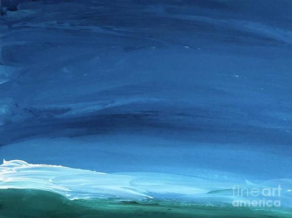 Painting - Night Ocean by Karen Nicholson