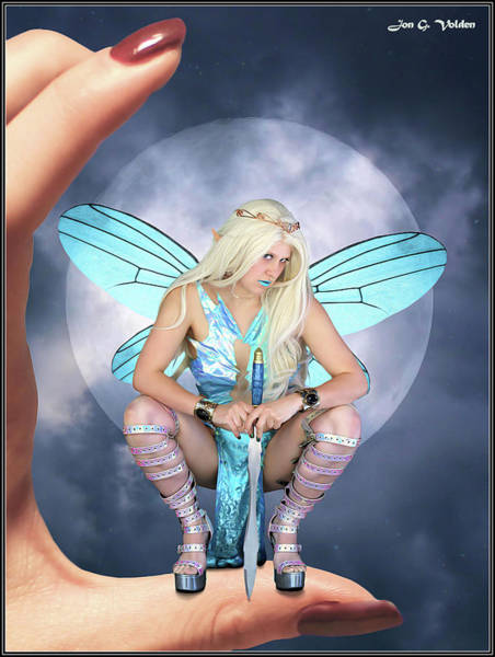 Photograph - Night Of The Blue Fairy by Jon Volden