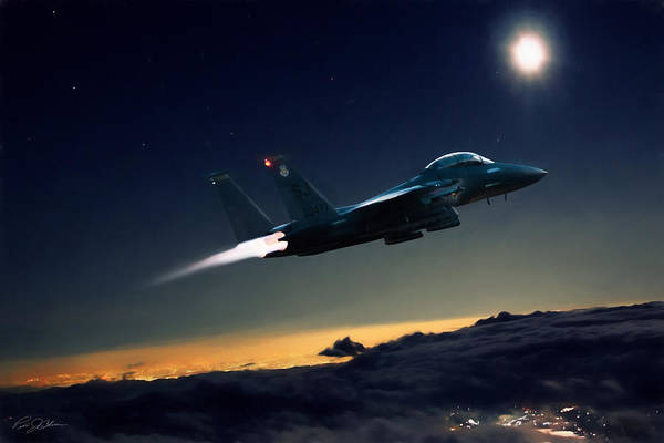 Mcdonnell Douglas Digital Art - Night Of The Eagle by Peter Chilelli