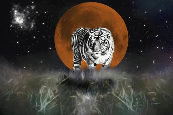 Digital Art - Night Of The Tiger by Ericamaxine Price