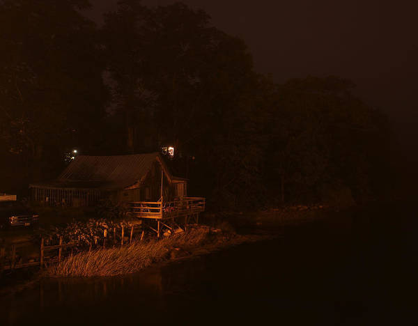 Night On The River Art Print