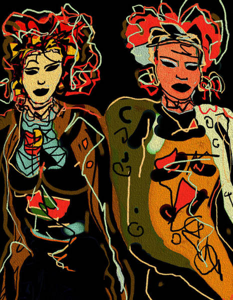 Dressed Up Mixed Media - Night Out by Natalie Holland