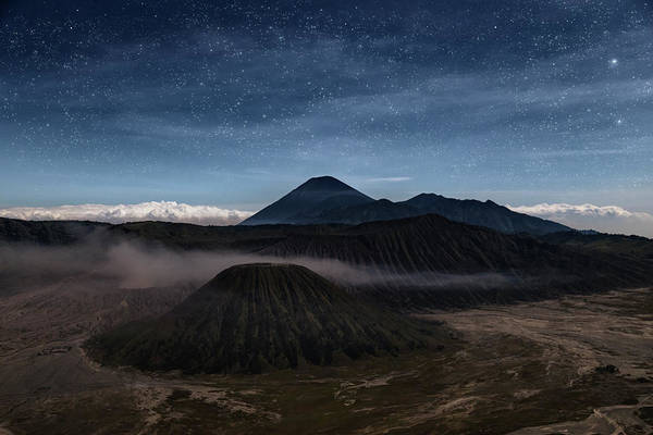 Rauch Wall Art - Photograph - Night Over Mount Bromo - Java by Joana Kruse