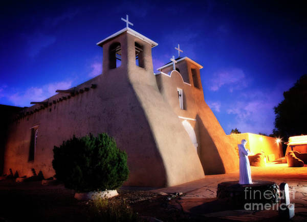 Photograph - Night Over Taos Mission Church by Scott Kemper