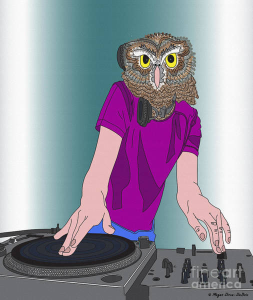Digital Art - Night-owl Dj by Megan Dirsa-DuBois