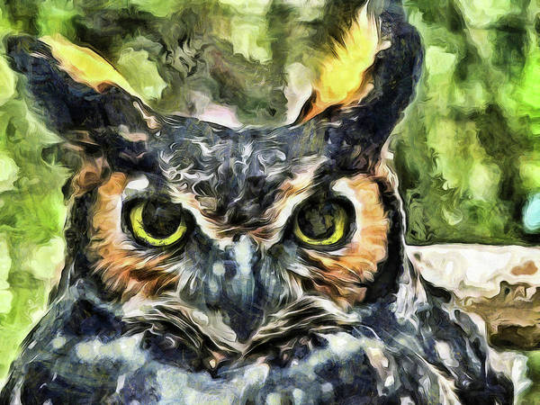 Mixed Media - Night Owl by Trish Tritz