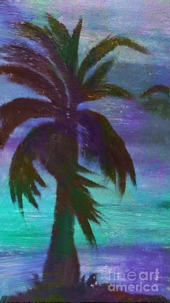 Mixed Media - Night Palm by Karen Nicholson
