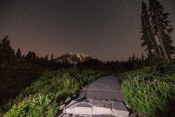Photograph - Night Path by Kristopher Schoenleber