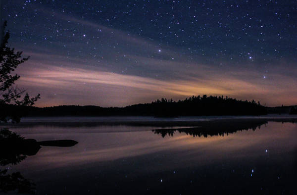 Photograph - Night Reflections On Pharaoh Lake by Jessica Tabora