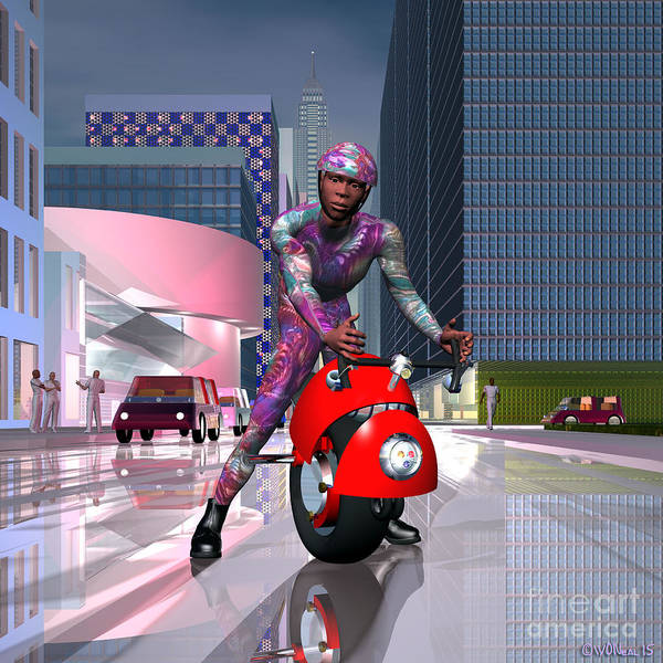 Digital Art - Night Rider by Walter Neal