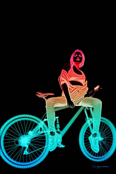 Digital Art - Night Rides - The Neon Ride No.2 by Serge Averbukh