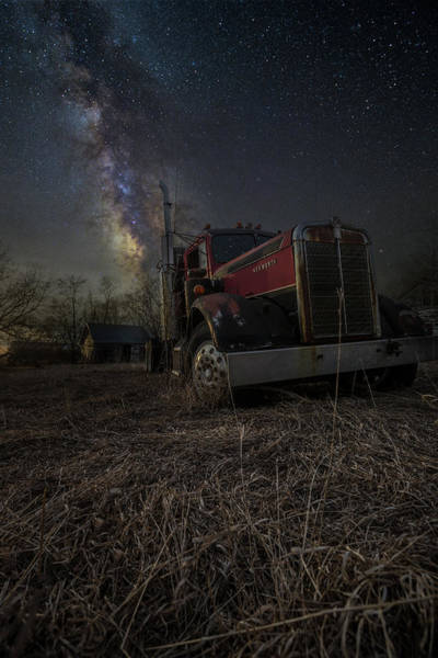 Photograph - Night Rig by Aaron J Groen