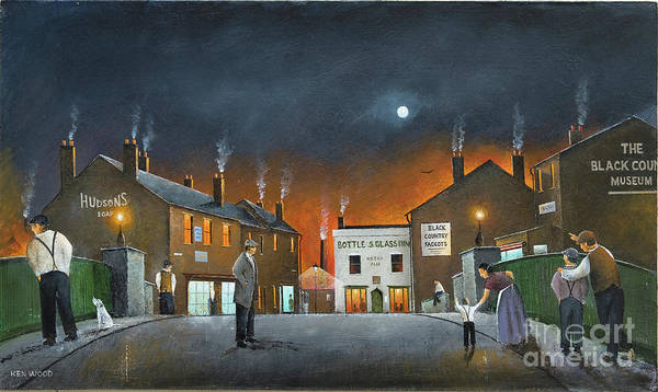 Painting - Night Scene At The Black Country Museum by Ken Wood