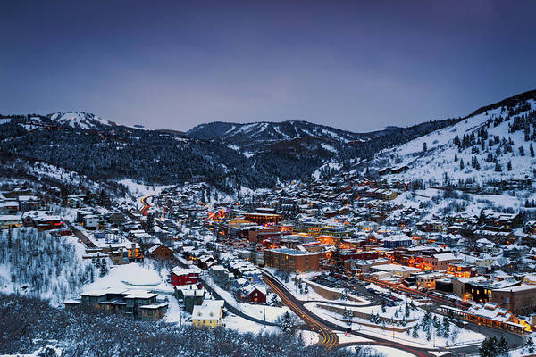 Wall Art - Photograph - Night Scene In Park City by Johnny Adolphson