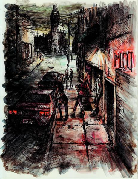 Neon Drawing - Night Shift by Rachel Christine Nowicki