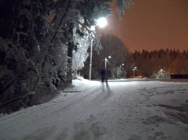 Photograph - Night Skiing by Sami Tiainen