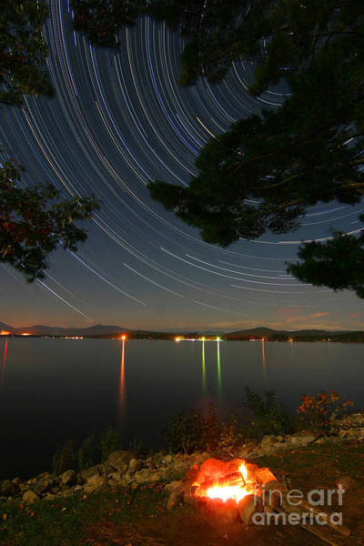 Ossipee Wall Art - Photograph - Night Sky 8 Hour Exposure by Larry Landolfi