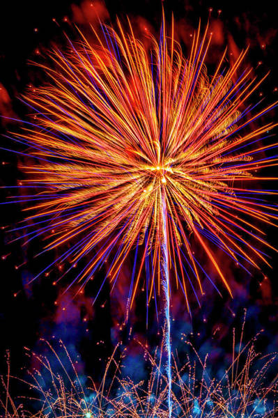 Fireworks Display Wall Art - Photograph - Night Sky Explosion by Garry Gay