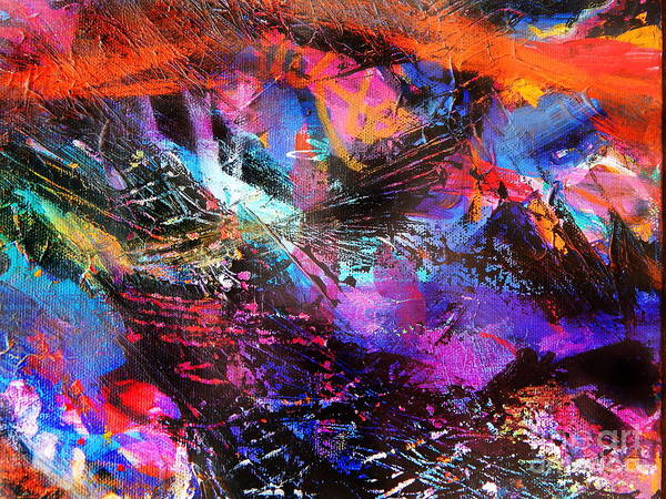 Dominate Painting - Night Sky by Expressionistart studio Priscilla Batzell