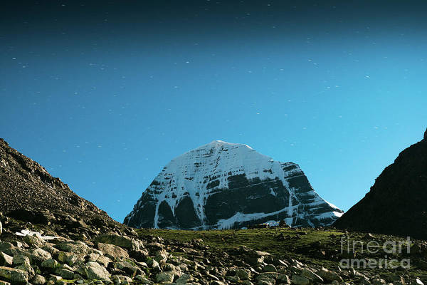 Wall Art - Photograph - Night Sky Holy Kailas Himalayas Tibet Yantra.lv by Raimond Klavins