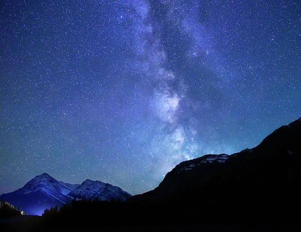 Night Sky In David Thomson Country Art Print