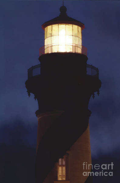 Photograph - Night Sky Lighthouse by D Hackett